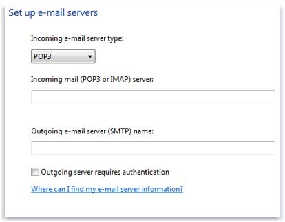 how to find out incoming mail server